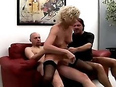 Mature does blowjob and gets facial