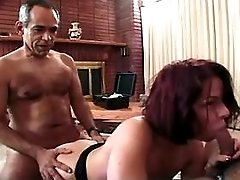 Mature has sex in all holes in orgy