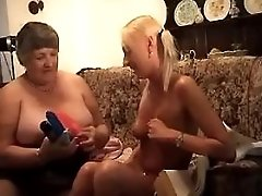 Busty blonde mature sucks and fucks