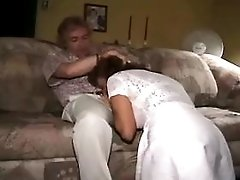 Blonde mature does  blowjob n fucks