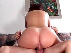 Lewd mature gets dick in all holes
