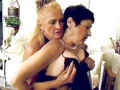 Two milfs suck cock and get licking