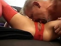 Tattooed lewd mature does blowjob