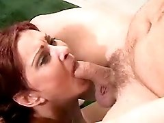 Mature fucks and gets cum on pussy