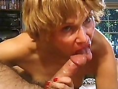 Blond milf gets fucked real hard