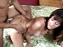 Two matures suck and fuck in group