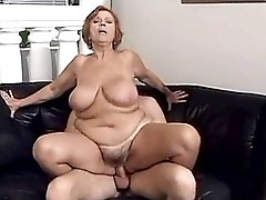 Redhead hot milf fucks in all holes